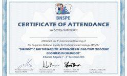 Сертификат BNSPE