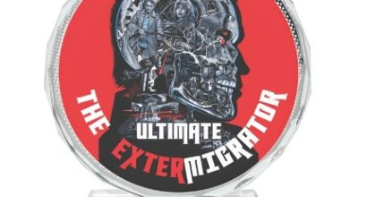 Стъклен плакет със сублимационен печат EXTERMIGRATOR