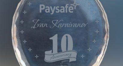 Кристален плакет PAYSAFE