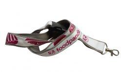 Двойно шита лента за бадж Foodpanda